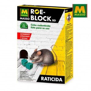 Antiplagas - matainsectos - Raticida roe-block plus 260 gr. massó