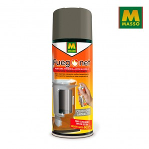 Barbecues and Accessories - Pintura anticalórica gris 400ml. fuegonet massó