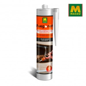 Barbecues and Accessories - Masilla refractaria negra 300 ml. fuegonet massó