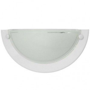 Comprar Aplique de pared media luna LED blanco 1xE27 GSC 0701937 online