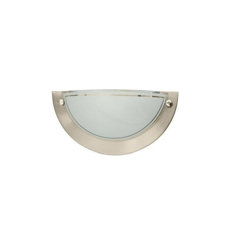 Aplique de pared media luna LED níquel satín 1xE27 GSC 0701939