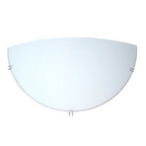 Aplique de pared media luna LED blanco 1xE27 GSC 0701995