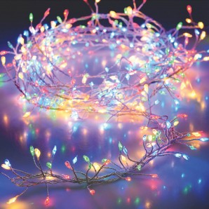 Christmas lights - Guirnalda a pilas multicolor 100 led