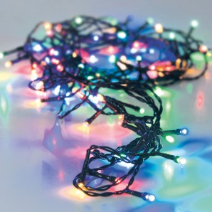 Guirnalda a pilas cable verde 24  led multicolor ip44 multifunicon