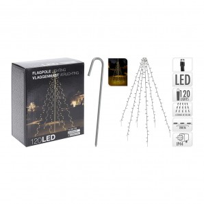 Christmas lights - Cortina exterior 120 led blanco calido especial para arboles