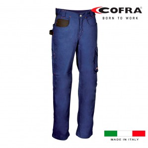 Clothing labour - Pantalon woman walklander azul marino negro cofra talla 40
