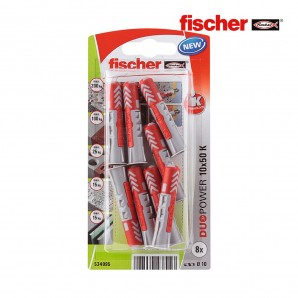 Fixing and connection - Blister 8 tacos duopower 10x50 fischer