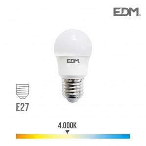 Ampoules Led E27 et E14 - Bombilla esferica led e27 8.5w 940 lm 4000k luz dia edm