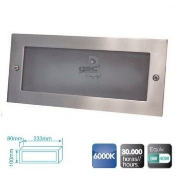 5W LED aluminum wall light to embed GSC 0703405