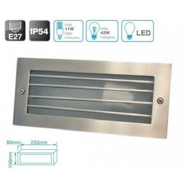 Aluminum wall light with recessed grid GSC 0701912