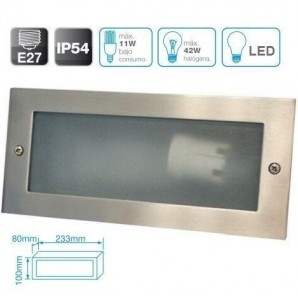Exterior lighting - Aplique de aluminio para empotrar