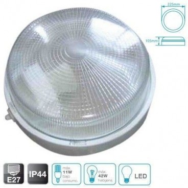 Round thermoplastic wall light WHITE E27 GSC 0700648