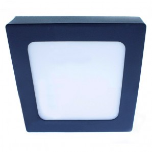 Plafón LED Know IP54 30W 4000K cuadrado antracita