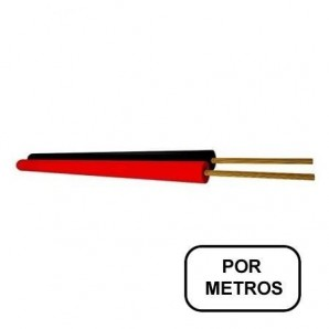 Cable paralelo rojo/negro 2x1.5mm AUDIO por METROS