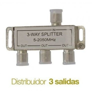 Television distributor Splitter 3 outputs