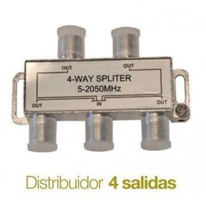Distributors of TV - Distribuidor de television Splitter 4 salidas