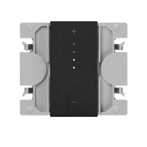 SIMON 270  Master iO dimmable switch with matte black narrow button 21001121-098