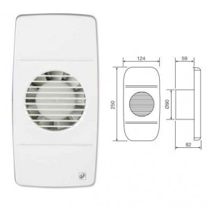 Bathroom Extractor fan EDM-80 L Soler & Palau