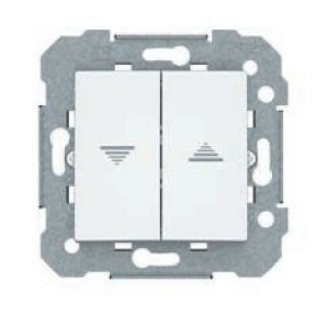 Doble interruptor de persianas blanco BJC Viva 23569
