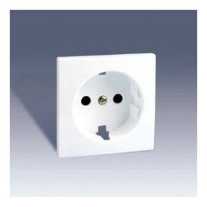 Tapa base de enchufe 2P+TT BLANCO Simon 28 28041-60