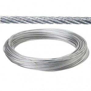 Galvanized cable 5 mm. (Roll 100 Meters) not for elevation