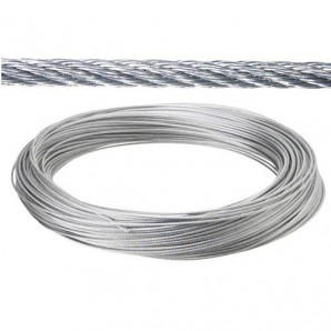 Galvanized cable 6 mm. (Roll 100 Meters) not for elevation