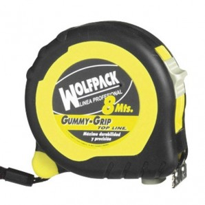 Wolfpack Topline in gomma Grip Tape Measure con la serratura 8m