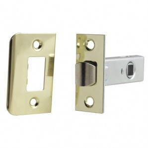 Latch Square Wolfpack Edge 35 mm. Brass Plated Iron