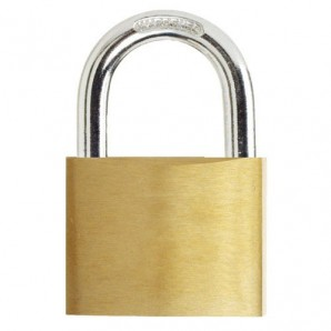 Wolfpack Brass Padlock Normal Shackle 40 mm.