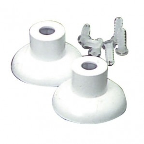 Set of White Plastic Bathroom Fittings 16 mm.