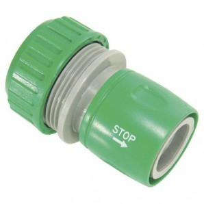 Plastic Hose Connector 1/2 With Stop Blister Pack