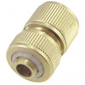 Brass Hose Connector 1/2 Stop