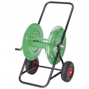 Steel 100 metre Hose Carrying Trolley Inflatable Tyre