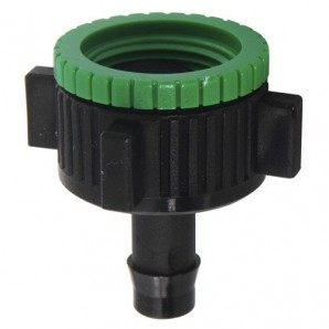 Goteo Tap Adapter 1/2-3/4 to 1/2 Pipe (Blister Pack 1 Piece)