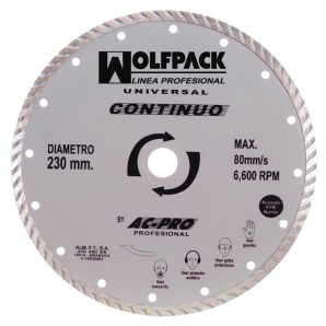 Wolfpack continuo diamante disco 230 mm.