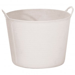 White Plastic Bucket Number 3 40 Litres
