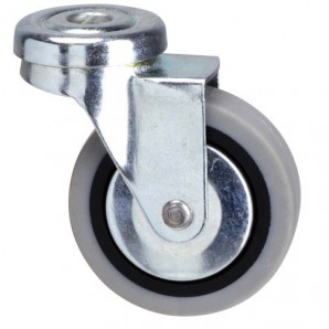 Grey Rubber Wheel with Through Hole 50 mm.