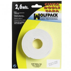 Wolfpack Double Sided Tape 2.6 m. x 18 mm.