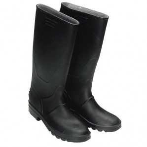 Boots rubber high black - 3177