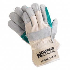 Wolfpack American Split Leather Gloves Reinforced Palm