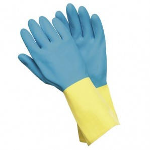 Wolfpack Two Colour Neoprene-latex Gloves Size L