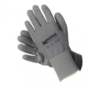 Wolfpack Seattle Polyurethane Gloves with Hanger 10?