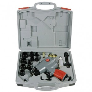 """Machines and tools - Impact wrench Pneumatic Yamato 1/2"""" with Kit, 17-Piece"""
