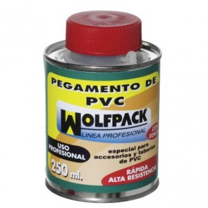 Wolfpack PVC Adhesive With Brush 250 cm³