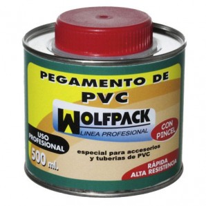 Wolfpack PVC Adhesive with Brush 500 cm³