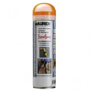 Spray Maurer traçage orange fluorescent 500 ml