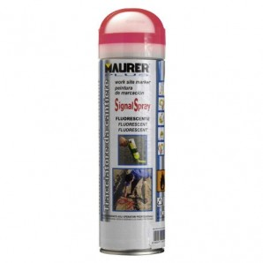 Spray Maurer traçage rouge fluorescent 500 ml