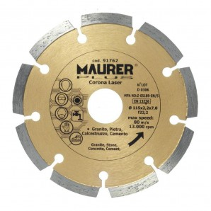 Disco Maurer Laser segmentata diamante 115 mm.