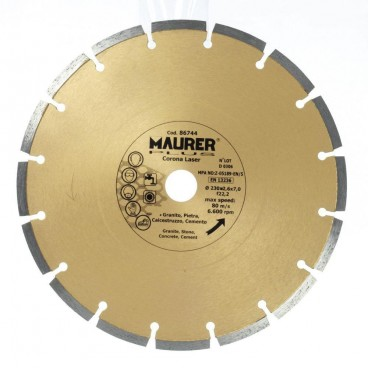 Disco Maurer Laser segmentato Diamond 230 mm.