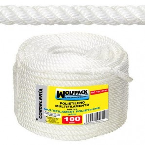 Corde en polypropylène multifilament (bobine 100 m) 18 mm
